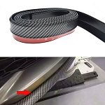 Carbon Fiber Look Front Splitter Trim - 100 Inches
