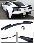 C7 Corvette Stingray 2014-2019 Unpainted Stage 2 Wicker Bill Spoiler w/ Optional Tinted Wickerbill