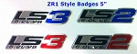 C6 Corvette 2005-2013 ZR1 Style Aluminum Badges/Engine Plates Emblems - LS2 & LS3
