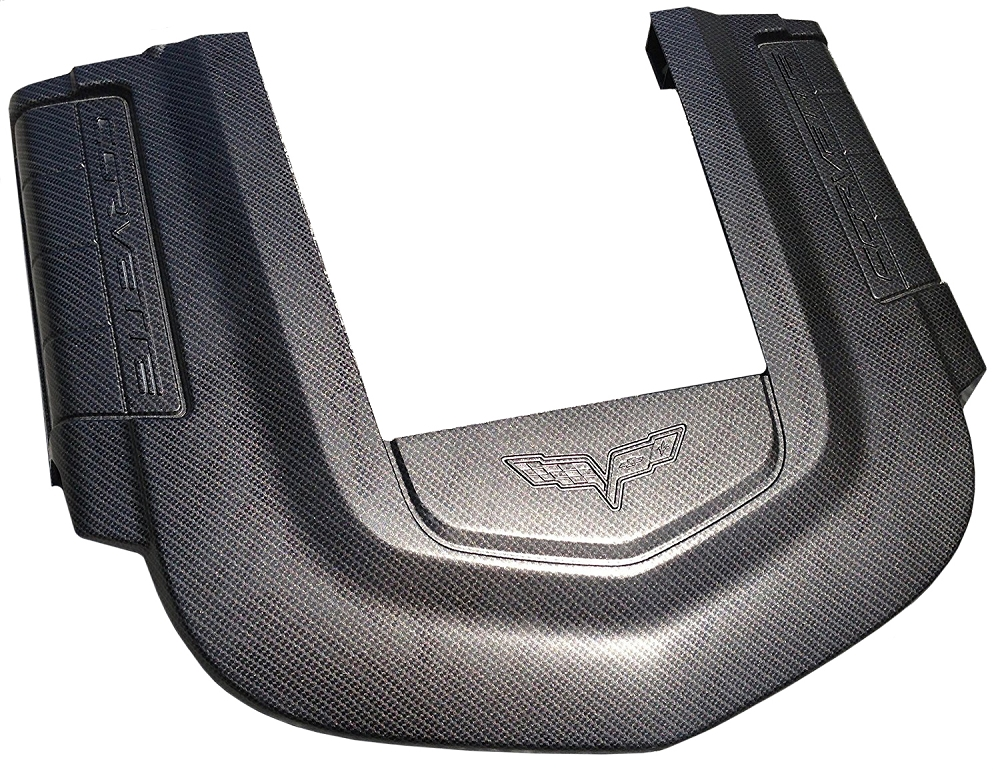 C6 Corvette ZR1 2009-2013 Hydro Carbon Fiber Engine Cover - Blue Accent Option
