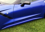 C7 Corvette Stingray/Z06/Grand Sport 2014-2019 Custom Painted Stage 1 Style Side Skirts