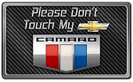 Gen 5 Gen 6 Camaro 2010+ Stainless Steel 8 x 4.75 Inch Please Dont Touch Dash Plaque - Colored