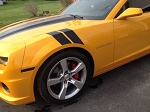 Gen 5 Camaro 2010-2015 Hash Fender Accent Stripes