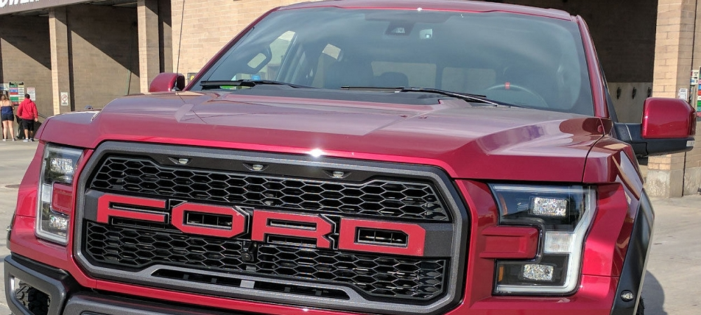 2017+ Ford Raptor Front Lettering Decal - Color Selection   Modern Gen Auto