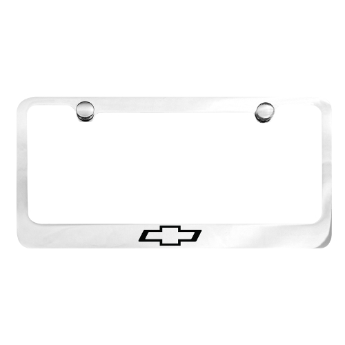 Chevrolet Polished Chrome & Black License Plate Frame | Modern Gen Auto