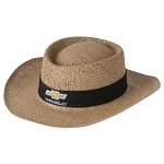 Chevrolet Natural Straw Hat w/ Gold Bowtie