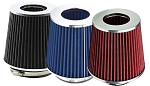 3.5 Inch / 89mm Cold Air Intake Replacement Cone Filter - Red, Blue or Black Color Selection