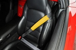 Vinyl Seat Belt Shoulder Pads - Yellow