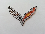 C7 Corvette Stingray/Z06/Grand Sport 2014-2019 Crossed Flags Emblem - Mini