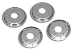 C5 Corvette 1997-2004 Hub Rotor Covers - Chrome/Red/Black