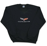 C6 Corvette 2005-2013 Embroidered Crew Sweatshirt