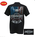C2 C3 C4 C5 C6 C7 Corvette 1963-2019 Nothing is More American T-Shirt w/ Chevrolet Script & Bowtie