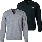 Chevrolet Gold Bowtie V-Neck Sweater - Gray or Navy Option