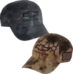 Chevrolet 3D Bowtie Tactical Camo Cap - Black or Brown Color Option