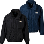 Chevrolet Bowtie & Script Wind / Waterproof Dakota 3-IN-1 Jacket - Black & Navy Color Options