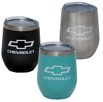 Chevrolet Bowtie & Script Cece Stainless Steel Tumbler - 12oz - 3 Color Options