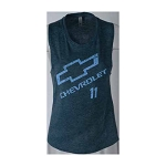 Ladies Distressed Chevy Workout T-Shirt w/ Size & Color Options