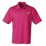Men's Nike Dri-Fit Pique Polo w/ Embossed Gold Bowtie Emblem - Fusion Pink