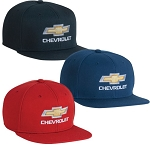 Chevrolet Red Label Flat Bill Cap w/ Gold Bowtie & Script