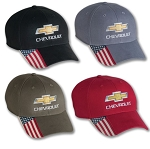 Chevrolet Stars and Stripes Cap w/ Gold Bowtie & Script