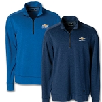 Men's Chevrolet Tri-Blend Fleece Quarter Zip Pullover - Size & Color Options