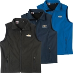 Men's Bonded Workwear Vest w/ Gold Bowtie & Chevrolet Script - Size & Color Options