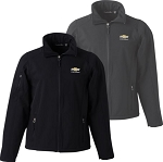 Men's Soft Shell Jacket w/ Gold Bowtie & Chevrolet Script - Size & Color Options