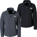 Ladies Soft Shell Jacket w/ Gold Bowtie & Chevrolet Script - Size & Color Options
