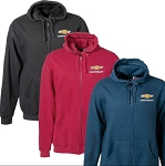 Chevrolet Gold Bowtie Full Zip Hoodie Jacket - Size & Color Options