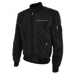 Men's Wingover Black Bomber Jacket w/ Camaro Signature
