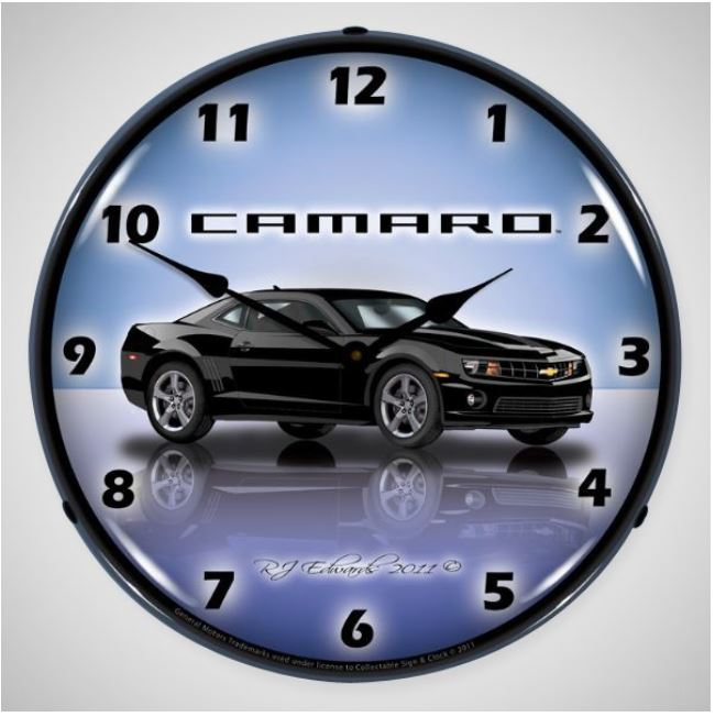 Gen 5 Camaro SS 2010-2015 14 inch LED Backlit Clock - Color Options