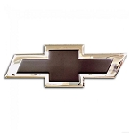 Chevrolet Bowtie Emblem Sign - Gold or Black Insert