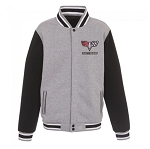 Men's Reversible Gray / Black Varsity Jacket w/ Camaro Logo on Front & Back