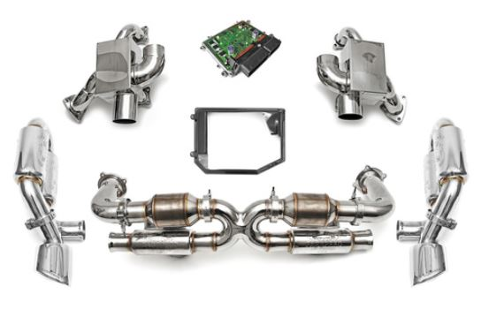 1995-1998 Porsche 993 Turbo / Turbo S Sport Performance Package w/ Tips - Polished Chrome - ECU Options
