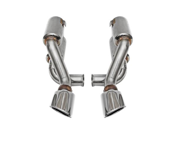 1996-1998 Porsche 993 Turbo / Turbo S Supercup Exhaust System w/ Tips -  Polished Chrome