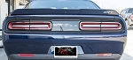 2015-2017 Dodge Challenger Brushed Stainless Steel Tail Light Trim - Set of 4
