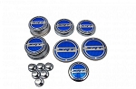 2008-2017 Dodge Challenger Chrome Plated Stainless Steel Deluxe SRT Cap Cover Set w/ Shock Tower Covers & Color Inlay Options - 13pc Set