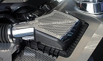 2011-2013 Ford Mustang GT 5.0 Polished Stainless Steel Perforated Air Box Cover - 2pc