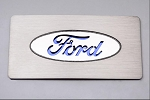 2009-2014 Ford Raptor / F-150 Stainless Steel Ford Logo Glove Box Trim - Color Selections Available