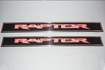 2010-2014 Ford Raptor Carbon / Fiberglass Stainless Steel Illuminated Front Door Sills w/ LED Raptor Lettering - LED Lighting Color Options Available