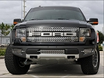 2010-2014 Ford Raptor Brushed Stainless Steel Lower Front Grille Kit - 3pc