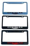 Chrysler Brand Script License Plate Frame - Color/Finish Selections