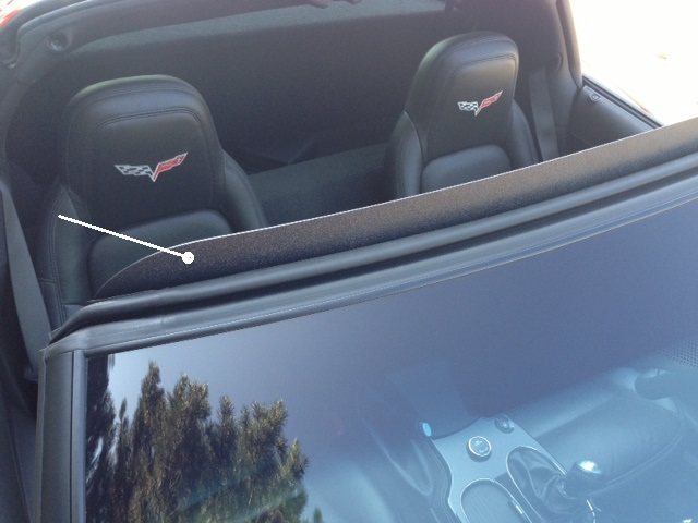 C6 Corvette 2005-2013 Wind Deflector - Coupe & Convertible