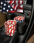 C5 Corvette 1997-2004 Plug & Chug Two Drink/Cell Phone Holder - Red, White, & Blue Patriot Vinyl