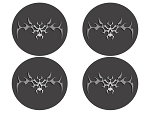 C6 Corvette 2005-2013 Tribal Skulls w/ Blackout Kit - 8 pc