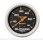 AutoMeter Pro-Comp 2-5/8 inch Mechanical Blower Pressure Gauge, Liquid Filled, 0-60 psi