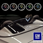 C7 Corvette Stingray/Z06/Grand Sport 2014-2019 WindRestrictor - Laser Etched & Illuminated - Licensed GM Logos - Convertibles