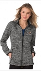 C7 Corvette 2014-2019 Ladies Electric Heather Full-Zip Jacket - Small