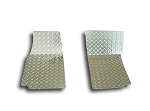 C3 Corvette 1968-1982 Diamond Plate 2pc Floor Mats - Polished