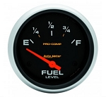 AutoMeter Pro-Comp 2-5/8 inch Short Sweep Electronic Fuel Level Gauge, 240E/33F